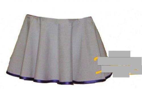 Tellerrock unifarben mit 1 Farb-Streifen Lycra