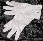 Elegante Baumwollhandschuhe mit Drucker weiß