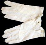 Baumwollhandschuhe mit Drucker weiß