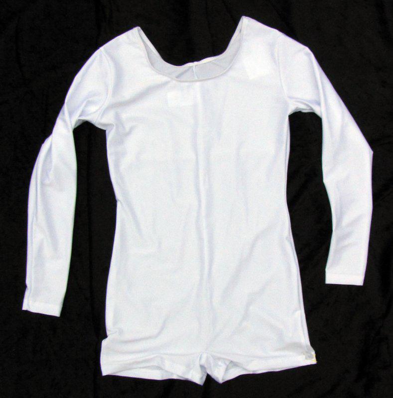 Herren Uniform-Body mit langem Arm, elastisch, Pantsbeinabschluss