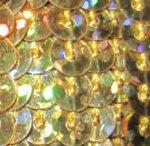 Pailletten-Schnur unelastisch Gold holo