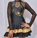 Tanzkostüm Michele schwarz-gold