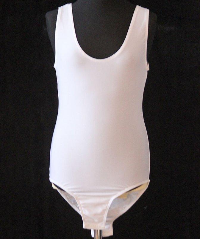 Uniformbody Stretchbody Tanzbody schmale Träger, Lycra elastisch, mit Druckknöpfe im Schritt