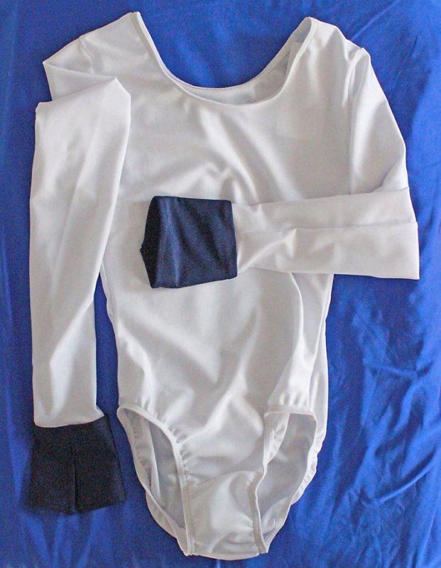Uniform-Body elastisch langer Arm m. Manschette