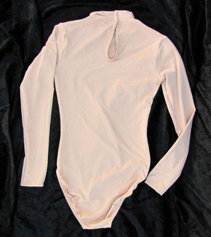 Damen Uniform-Body Lycra mit Stehkragen, lg. Arm, Tropfenverschluss,