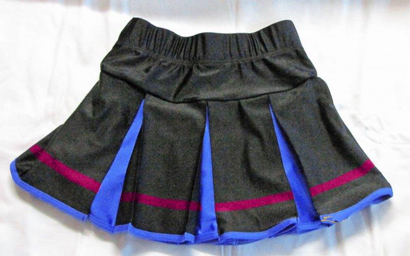 Kellerfaltenrock elastisch dreifarbig