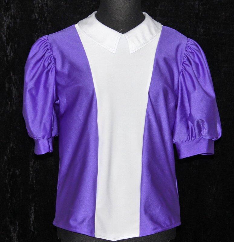 Uniformweste Jana zweifarbig mit Puffärmel und Blusenkragen, elastisch
