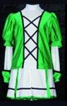 Uniformweste Jana, Stehkragen, dreifarbig und eine dreifache Verschnürung vorne, elastisch