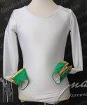 Uniform-Body dreifarbig elastisch langer Arm m. Manschette und Farbstreifen