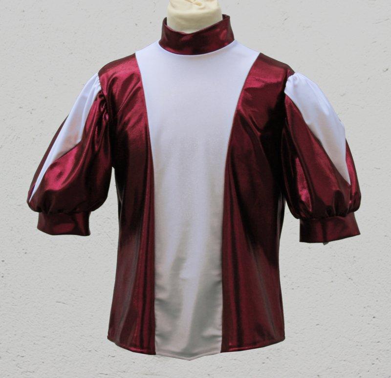 Uniformweste Jana mit großem Dreieckeinsatz im Puffärmel, zweifarbig, elastisch
