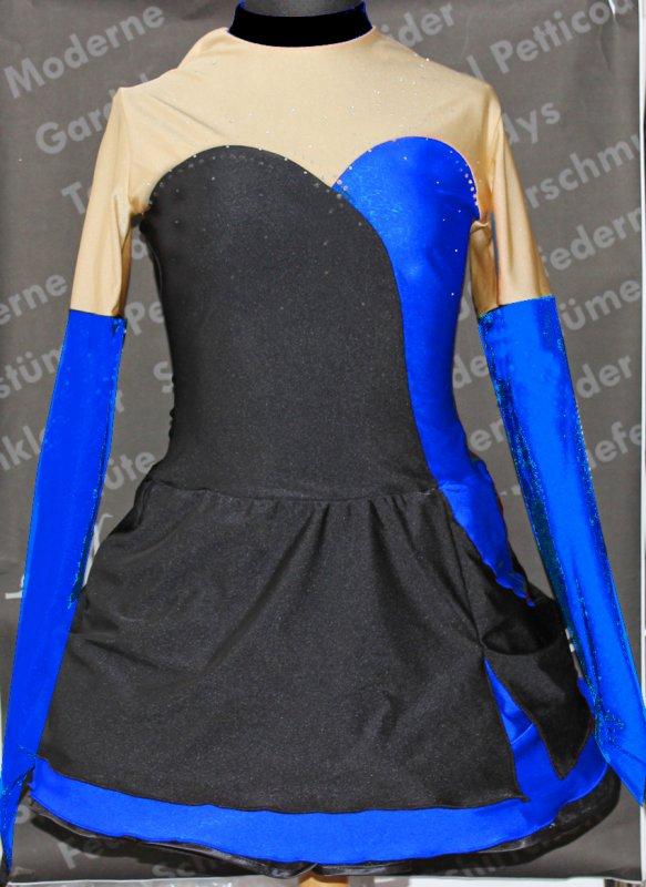 Solotanzkleid Gardekostüm Mika4 OHNE STRASS mit 2 Halbteller-Röcken ohne Petticoat