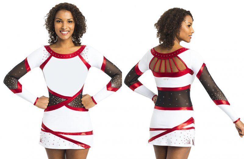 FLORIDA Kleid Cheerkleid inkl. Strass Swarovski Elements ® Strasssteine Ervy Cheer Edition