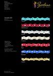ZickZack Blumenpaillettenband 25-M-Karte