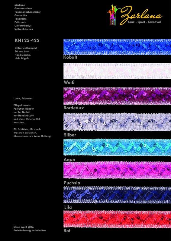 Glitzerwellenband Paillettenband 25-M-Karte