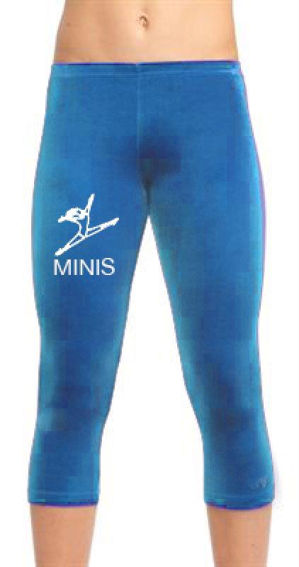 Ervy Leggings Capri-Tight 3/4 lang Kindergröße Strassmotiv Spagat  und Namen