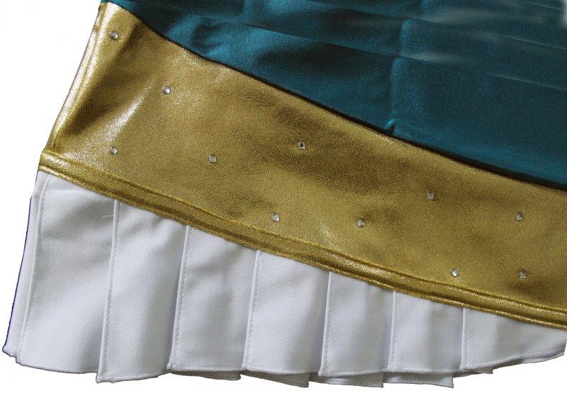Garderock Lana mit Faltensaum und Strasssteine