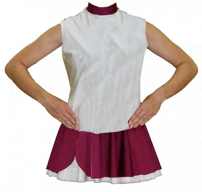 Uniformweste Katrin ohne Arm mit Rückenreißverschluss 2farbig