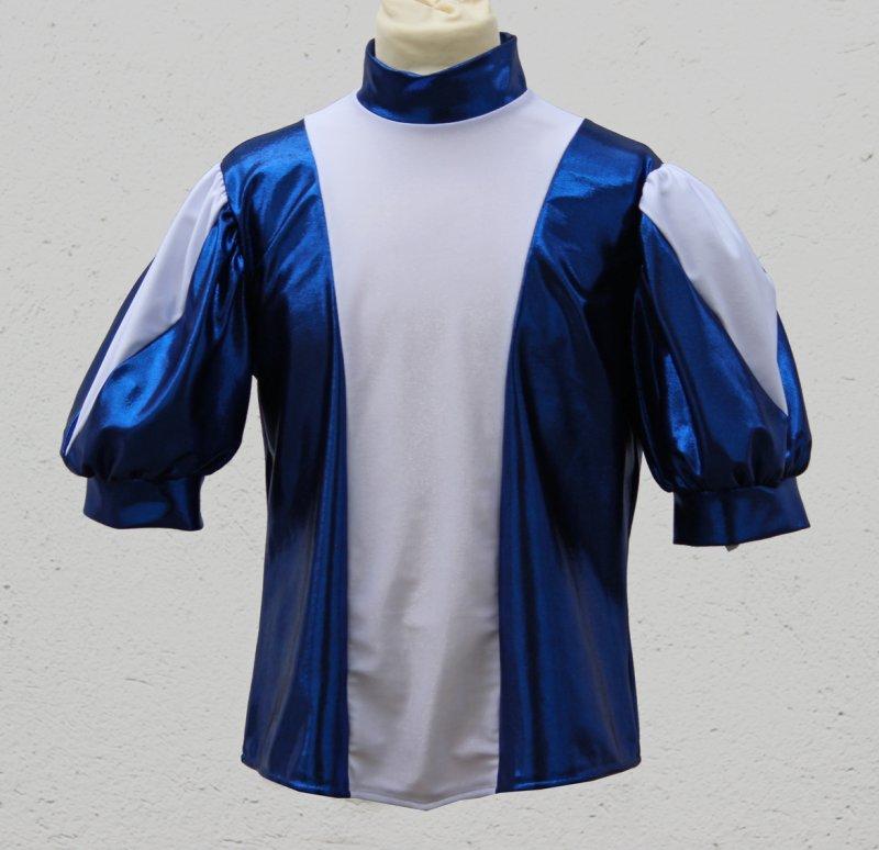 Uniformweste Jana Seitenteile/Puffärmel in Shine mit großem Dreieckeinsatz, elastisch