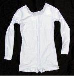 Uniform-Body mit langem Arm, elastisch, Pantsbeinabschluss