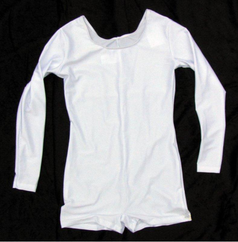 Herren Uniform-Body mit langem Arm, elastisch, Pantsbeinabschluss ab Größe 54