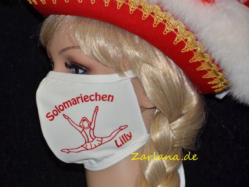 """PRIDANCE Mund-Nase-Maske für Erwachsene mit Motivdruck """"Solomariechen"""""""